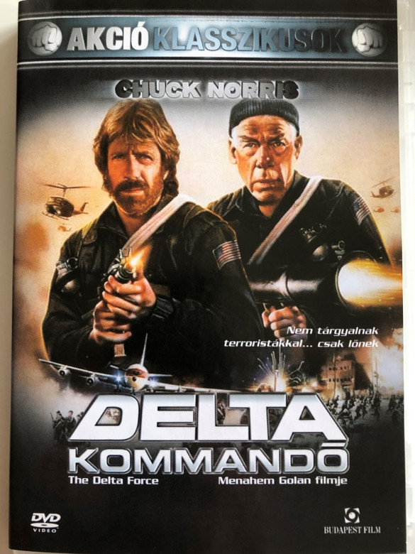 The Delta force DVD 1986 Delta Kommandó / Directed by Menahem Golan / Starring: Chuck Norris, Lee Marvin, Martin Balsam, Joey Bishop, Kim Delaney (59995442443368)