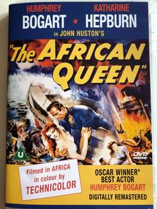 The African Queen DVD 1951 Digitally Remastered / Directed by John Huston / Starring: Humphrey Bogart, Katharine Hepburn, Robert Morley, Peter Bull, Theodore Bikel (5037115013736)