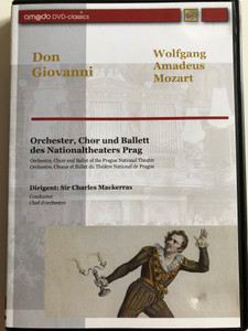 Don Giovanni - Wolfgang Amadeus Mozart DVD / Orchestra, Choir and Ballet of the Prague National theatre / Conducted by Sir Charles Mackerras / amado 2001 (4028462020011)