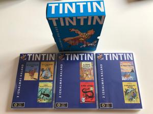 The Adventures of Tintin DVD SET 1991 Tintin - 7 izgalmas kaland / 7 exciting adventures / A fáraó szivarjai, A kék lótusz, A fekete-sziget, A kalkulusz affér / Les Aventures de Tintin / 3 DVD (5999559990199)