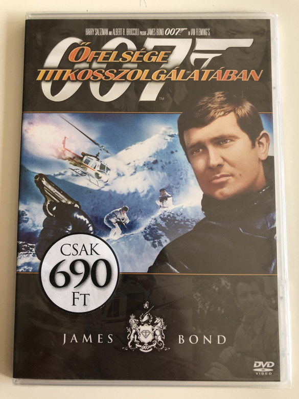 James Bond 007 - On Her Majesty's Secret Service DVD 1969 James Bond - Őfelsége titkosszolgálatában / Directed by Peter Hunt / Starring: George Lazenby, Diana Rigg, Telly Savalas, Bernard Lee (8594163150037/15)
