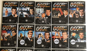 James Bond 007 - 20 DVD set / Ultimate Collection / 1962 - 2002 / Dr. No, From Russia with love, Goldfinger, Goldeneye, The World is not enough, Tomorrow never dies, Diamonds are forever / Bond Collection / Bond filmek teljes sorozat (Bond20DVDSET)