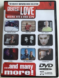 Greatest LOVE original Hits & Video clips DVD 2001 Brother Beyond, Marillion, Abc, Sinead O'Connor, Eternal ... and many more! / Disky (0724349266995)