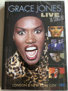 Grace Jones Live in concert DVD 2010 London & New York City / Warm Leatherette, Feel up, Pull up to the Bumper, My Jamaican Guy, Crush / Immortal IMM940205 (8712177056804)