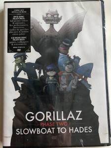 Gorillaz - Phase Two - Slowboat to hades 2 Disc Set - DVD & CD rom / Live performances, Promo videos, Hidden extras / Bonus CD rom (094637587492)