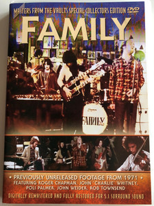 Family - Masters from the Vaults special Collectors Edition DVD 2003 Previously Unreleased footage from 1971 / Featuring: Roger Chapman, Poli Palmer, John Weider / Digitally Remastered (823880010224)