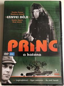 Princ a katona 1. DVD 1966 Hungarian TV Series / Directed by Fejér Tamás / Starring: Ernyey Béla, Zenthe Ferenc, Dávid Kiss Ferenc, Madaras József / 4 episodes on disc / 1-2. A legénybúcsú, 3. Eger ostroma 4. Az első levél (5999883108468)