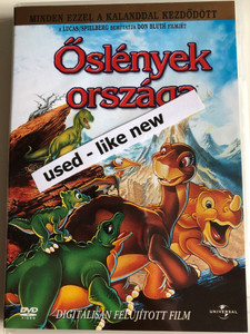 The Land Before Time DVD 1988 Őslények országa / Directed by Don Bluth / Starring: Gabriel Damon, Candace Hutson, Judith Barsi / Produced by Steven Spielberg, George Lucas (5996255721676)