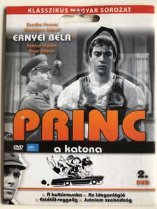 Princ a katona DVD 1966 Vol 2. / Classic Hungarian TV Series / Directed by Fejér Tamás / Starring: Ernyey Béla, Zenthe Ferenc / 4 episodes on disc / 5. A kultúrmunka, 6. Az idegenlégió 7. Estétől reggelig 8. Jutalom szabadság (5999557440757)