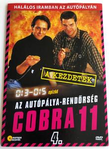 Alarm für Cobra 11 DISK 4 - Die Autobahnpolizei DVD 1996 Cobra 11 / Directed by / Starring: Johannes Brandrup, Rainer Strecker, Almut Eggert, Erdoğan Atalay, Mark Keller, René Steinke / The Highway Police Episodes 13-15 (5999557441983)