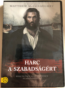 Free State of Jones DVD 2016 Harc a szabadságért / Directed by Gary Ross / Starring: Matthew McConaughey, Gugu Mbatha-Raw, Mahershala Ali, Keri Russell (5996514024531) (5996514024531)