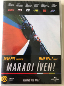 Hitting the Apex DVD 2015 Maradj Íven / Directed by Mark Neale / Narrated by: Brad Pitt / Jorge Lorenzo, Valentino Rossi, Casey Stoner / Moto GP Sport documentary (8590548601125)