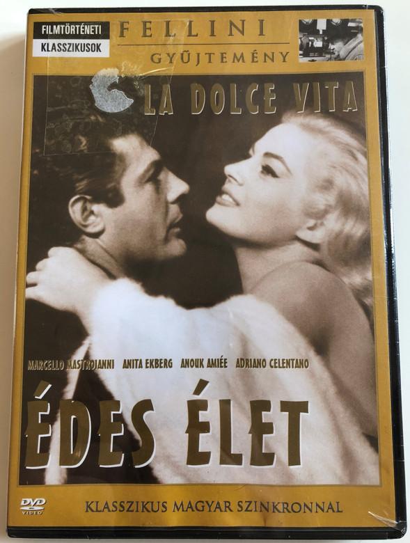 La Dolce Vita DVD 1960 Édes élet / Directed by Federico Fellini / Starring: Marcello Mastroianni, Anita Ekberg, Anouk Aimée, Yvonne Furneaux, Magali Noë, Alain Cuny, Nadia Gray / B&W Classic (5999546330281)