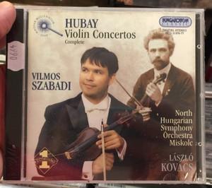 Hubay: Violin Concertos, complete / Vilmos Szabadi / North Hungarian Symphony Orchestra Miskolc. Laszlo Kovacs / Hungaroton Classic 2x Audio CD 2001 Stereo / HCD 31976-77