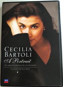 Cecilia Bartoli - A Portrait DVD 1992 The original documentary film / In Concert at the Savoy Hotel / Directed by David Thomas / With György Fischer, piano / Decca (004407114193)