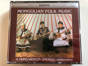 Mongolian Folk Music / A Hungaroton-Unesco collaboration / Hungaroton 2x Audio CD Box Set 1990 Stereo / HCD 18013-14