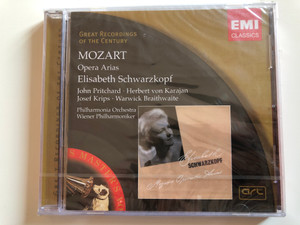 Mozart – Opera Arias / Elisabeth Schwarzkopf ‎/ John Pritchard, Herbert von Karajan, Josef Krips, Warwick Braithwaite / Philharmonia Orchestra, Wiener Philharmoniker / Great Recordings Of The Century / EMI Classics Audio CD 2005 Mono / 724347684425