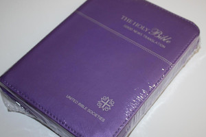 Leather Good News English Bible / Purple cover, Zipper, Golden Edges / 2010 P...