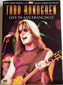 Todd Rundrgren DVD 2002 Live in San Francisco / Directed by Jesse Block / Yer Fast, Open my eyes, Trapped, Buffalo Grass, World Wide Epiphany (5060009233590)