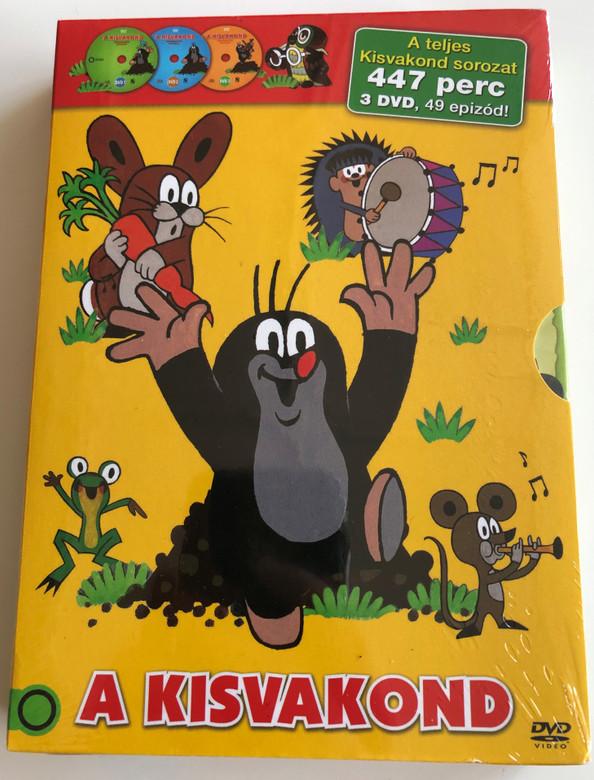 A kisvakond DVD SET Krtek the Mole Full Series / 3 Discs - 447 minutes - 49 episodes / Kisvakond teljes sorozat (5996473008252)