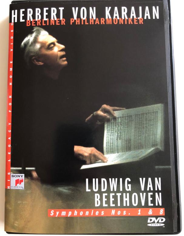 Herbert von Karajan DVD 1984 Ludwig van Beethoven - Symphonies Nos. 1 & 8 / Berliner Philharmoniker / Recorded January & February 1984 in Berlin Philharmonic / Sony Classical (5099704636399)