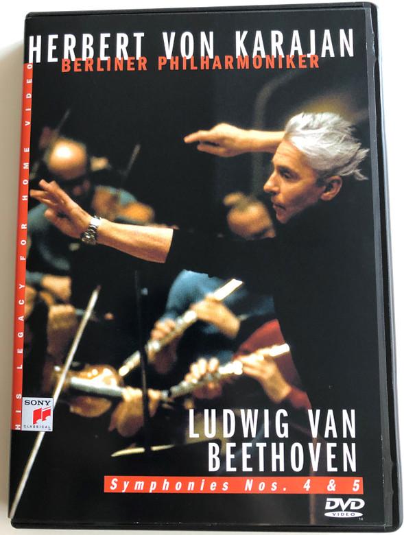 Herbert von Karajan DVD 1983 Ludwig van Beethoven - Symphonies Nos. 4 & 5 / Berliner Philharmoniker / Recorded 1982-1983 in Berlin Philharmonic / Sony Classical (5099704636696)
