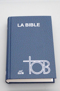Large French Bible / La Bible TOB / SB1381 TOB063 / Traduction Ecumenique De La Biblie / Skivertex bleu