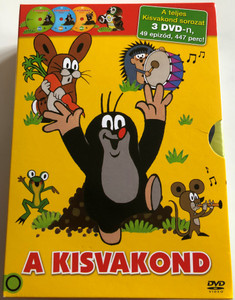A kisvakond DVD full SET Krtek the Little Mole Full Series / 3 Discs - 447 minutes - 49 episodes / Kisvakond teljes sorozat / Krteček (5996473008252.)