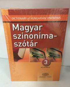 Magyar szinonima-szótár / Dictionary of Hungarian Synonyms / 3 az egyben / Akadémiai kiadó / 12500 címszó - 30.000 szinoníma (9789630593564)