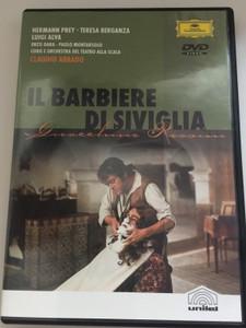 Il Barbiere di Siviglia DVD 1988 The Barber of Seville - Rossini / Chorus and Orchestra of Teatro alla Scala / Conducted by Claudio Abbado / Directed by Jean-Pierre Ponnelle / Deutsche Grammophon (044007302194)