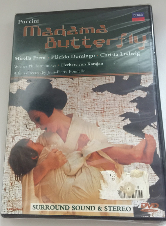 Madama Butterfly - Puccini DVD 1990 Madamme Butterfly / Directed by Jean-Pierre Ponnelle / Wiener Philharmoniker / Conducted by Herbert von Karajan / Mirella Freni, Plácido Domingo, Christa Ludwig (044007140499)