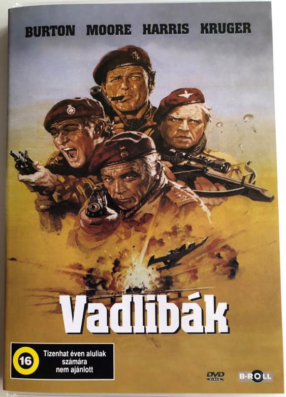 The Wild Geese DVD 1978 Vadlibák / Directed by Andrew V. McLaglen / Starring: Richard Burton, Roger Moore, Richard Harris, Hardy Kruger (5996051840168)