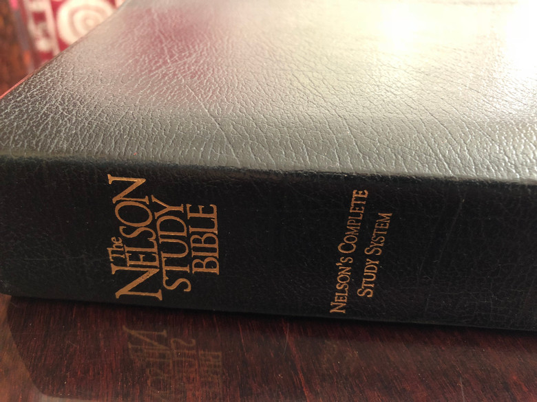 The Nelson Study Bible NKJV Nelson's Complete Study System #2885 Black Bonded Leather