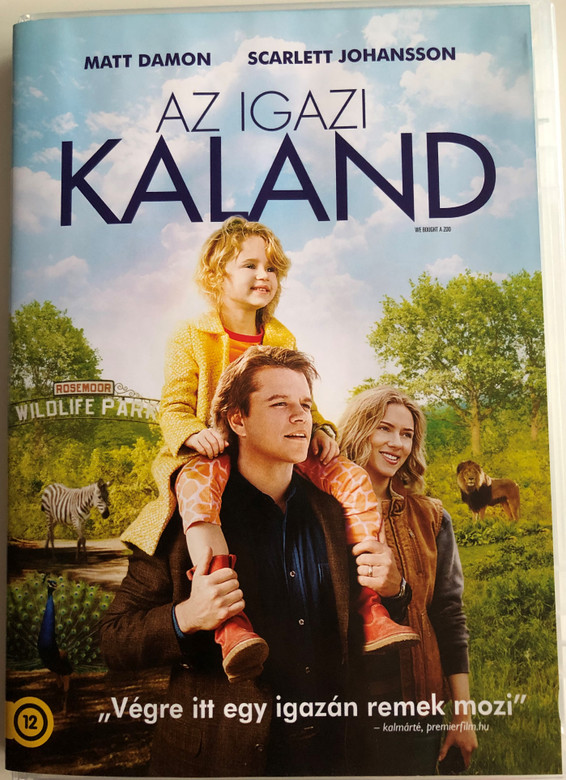 We bought a Zoo DVD 2011 Az igazi Kaland / Directed by Cameron Crowe / Starring: Matt Damon, Scarlett Johansson, Thomas Haden (5996255737530)