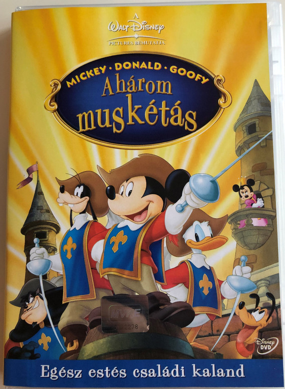 Mickey-Donald-Goofy: The Three Musketeers DVD 2004 A három muskétás / Directed by Donovan Cook / Starring: Wayne Allwine, Tony Anselmo, Bill Farmer, Russi Taylor (5996255713480)