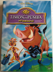 Around the World with Timon and Pumbaa DVD 1996 Timon és Pumba a Föld körül / Directed by Tony Craig, Jeff DeGrandis / Voices by Nathan Lane, Ernie Sabella / 6 brand new episodes! 6 vadiúj, viditó, varázslatos kaland! (5996255717334)