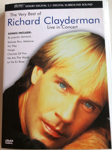 The Very Best of Richard Clayderman DVD 1992 Live in Concert / Directed by Mike Connor / With Exclusve Interview Footage / Flying Music Company (5060071500514)