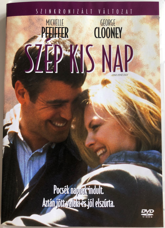 One Fine Day DVD 1996 Szép kis nap / Directed by Michael Hoffman / Starring: Michelle Pfeiffer, George Clooney, Mae Whitman, Charles Durning (5996255720372)