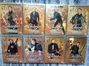 Sharpe Series Episodes 1-8 DVD SET Sharpe Sorozat Epizódok 1-8. / Directed by Tom Clegg / Starrin Sean Bean, Brian Cox, Daragh O'Malley, Assumpta Serna, David Troughton (SharpeDVDSET)