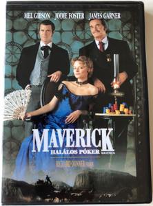 Maverick - Halálos Póker DVD 1994 Maverick / Directed by Richard Donner / Starring: Mel Gibson, Jodie Foster, James Garner, Graham Greene (5996514008562)