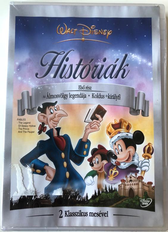 Disney's Fables Vol 1. DVD 2005 Disney Históriák / The Legend of Sleepy Hollow, The Prince and the Pauper / Első rész: Az álmosvölgy legendája - Koldus és királyfi / 2 klasszikus mesével / 2 classic fairytales (5996255712582)