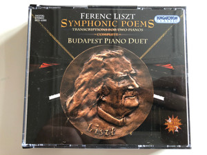 Ferenc Liszt - Symphonic Poems / Transcriptions For Two Pianos, Complete / Budapest Piano Duet / Hungaroton Classic 4x Audio CD 2003 Stereo / HCD 41005