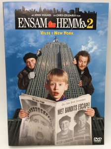 Ensam Hemma 2 - Vilse i New York (1992) Home Alone 2 - Lost In New York / Swedish Release DVD with Swedish, Danish, Norwegian, Finnish, Icelandic, Polish, Czech, Hebrew, Hungarian, Portuguese and English Language Subtitles (7391772364593)