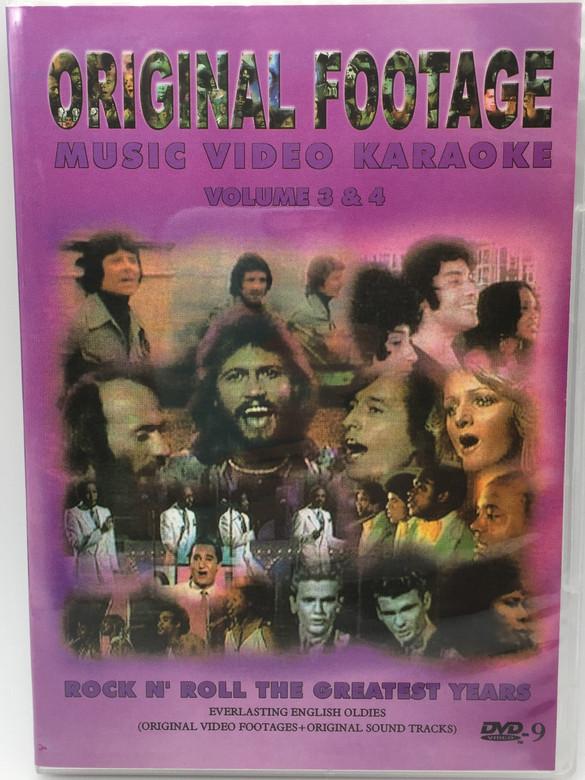 Original Footage Music Video Karaoke DVD Volume 3 & 4 (DVD) Rock N' Roll The Greatest Years (073243834010)