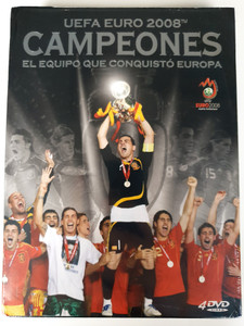 UEFA EURO 2008 Campeones 4DVD El Equipo que conquistó Europa / Euro 2008 Soccer championship - The team that conquered Europe / 1. The road to the final Victory of Spain 2. Semi-Finals Russia vs Spain 3. The Finals: Germany - Spain 4. All the Goals of Euro 2008 (5413356380514)