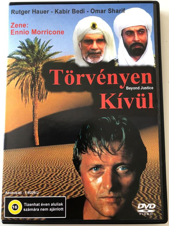 Beyond Justice DVD 1992 Törvényen kívül / Directed by Duccio Tessari / Starring: Rutger Hauer, Carol Alt, Omar Sharif, Elliott Gould (5999517471043)