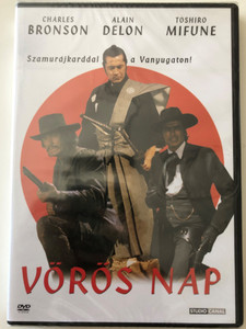 Vörös nap - Red Sun DVD 1971 / Directed by Terence Young / Starring: Charles Bronson, Ursula Andress, Toshirō Mifune, Alain Delon (5999546330359)
