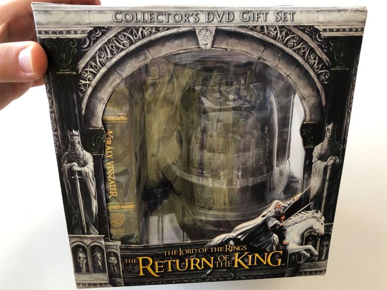 The Lord of the Rings - The Return of the King Collector's DVD 2003 Gift Set / Directed by Peter Jackson / Starring: Elijah Wood, Ian McKellen, Liv Tyler / A Gyűrűk Ura - A Király Visszatér DVD Ajándékcsomag / 5 DVD & Minas Tirith model (5999048904010)