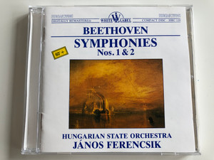 Beethoven - Symphonies Nos. 1 & 2 / Hungarian State Orchestra, János Ferencsik / Hungaroton Audio CD 1988 Stereo / HRC 110