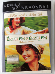 Sense and Sensibility DVD 1995 Értelem és Érzelem - Halgass a szívedre / Directed by Ang Lee / Starring: Emma Thompson, Alan Rickman, Kate Winslet, Hugh Grant (5999048916105)
